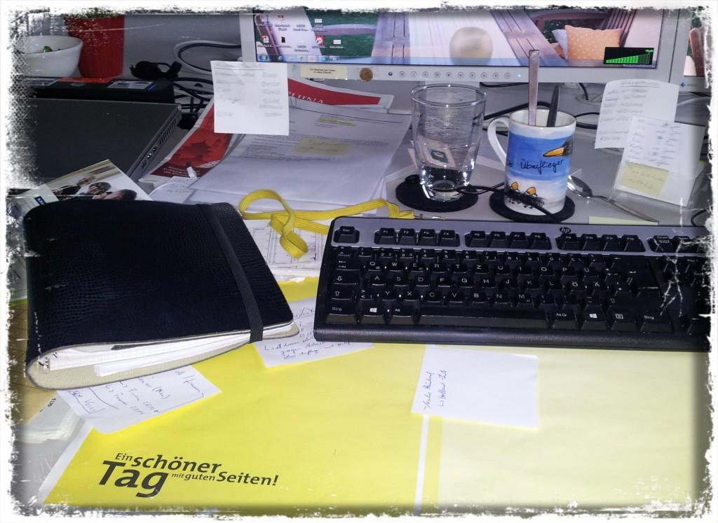 12. Mai 2014 - Im Büro angekommen