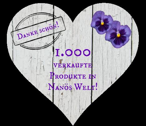 Danke für 1000 verkaufte Produkte