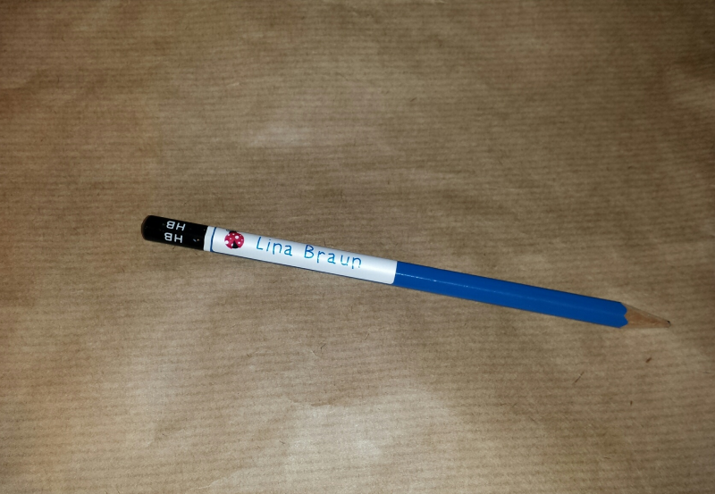 Stiftaufkleber für Lina