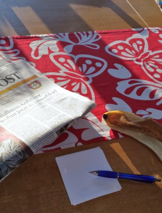 Turbofrühstück in der Sonne