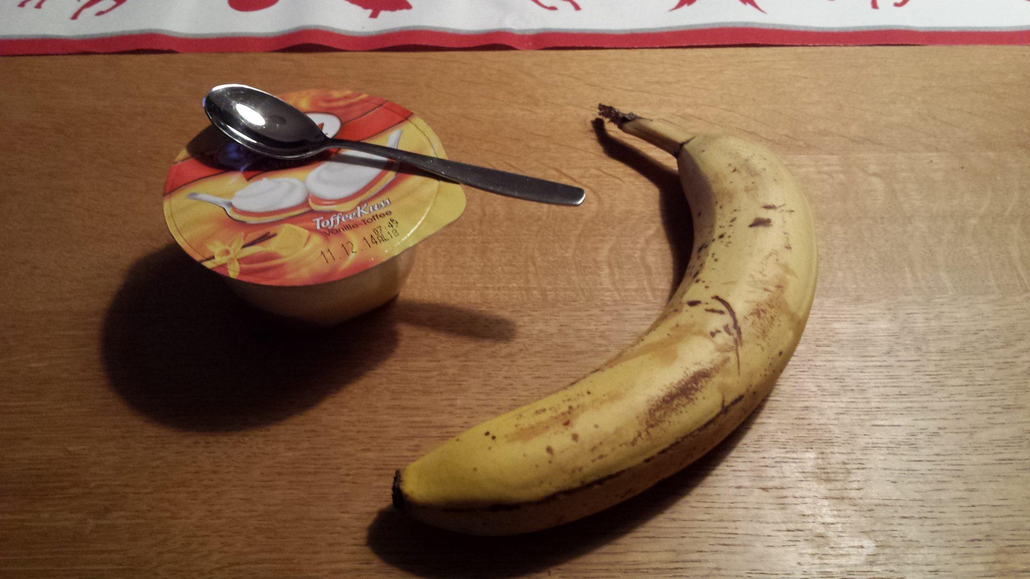 Ausgewogenes Frühstück mit Caramel-Kuss