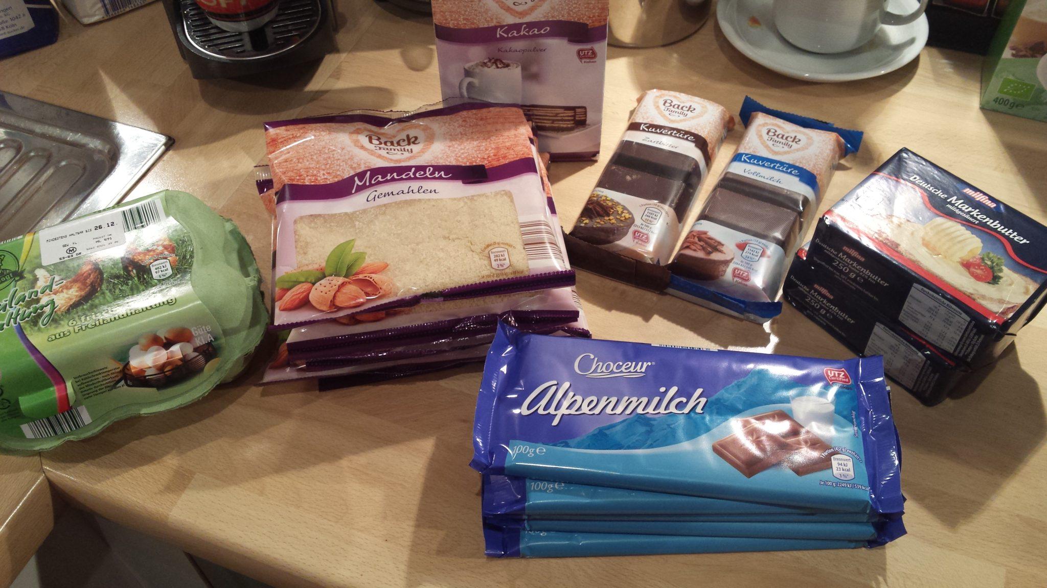 Vorbereitung für die Weihnachtsbäckerei