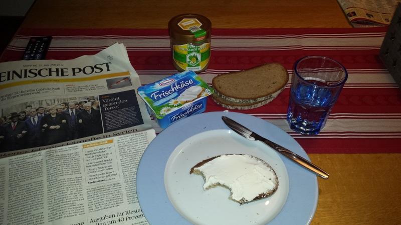 1. Frühstück nach den Ferien