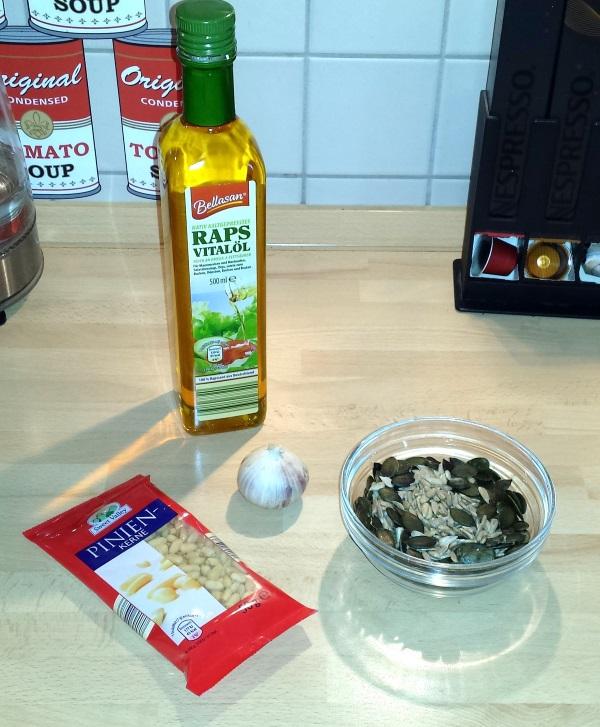 Zutaten fürs Pesto