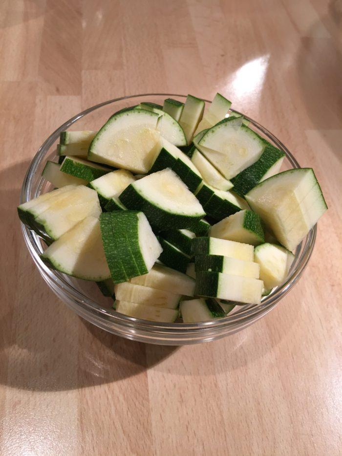 Zucchini in Scheiben