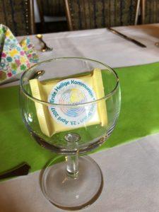 Gastgeschenk im Wasserglas