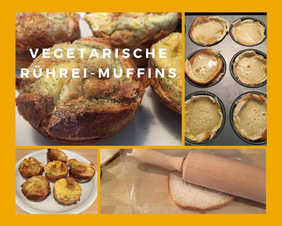 Rezept für vegetarische Rührei-Muffins