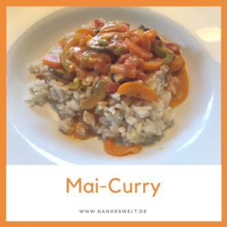veganes vegetarisches Curry aus Gemüse und Reis