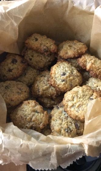 Hafercookies mit Chocolate-Chunks