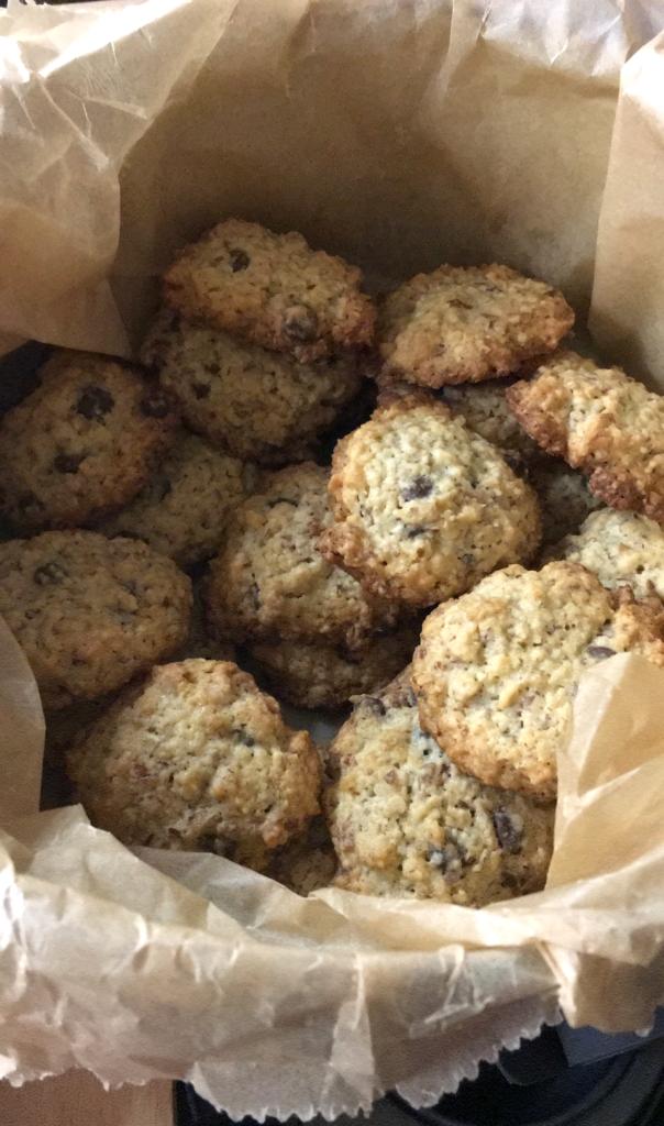 Hafercookies mit Chocolate-Chunks selbst gebacken