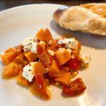 Auflauf mit Süßkartoffeln, Tomaten und Feta